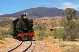 the pichi richi steam train near port augusta south australia