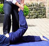 Stretching the lower back