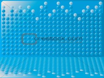 blue bubble graph