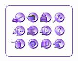 Legal Icon Set - Purple