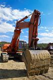 excavator with empty cabine