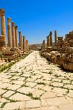 Roman Vestiges Jerash Pillars