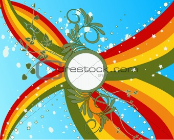 Abstract beauty floral background - vector illustration