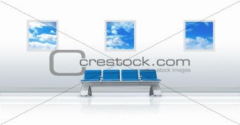 Airport Seat Blue