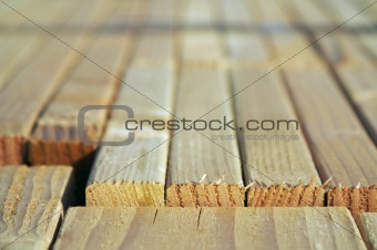 Abstract Construction Wood Stack