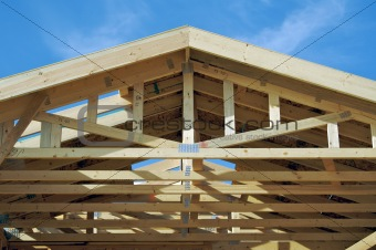 Abstract Home Construction Framing