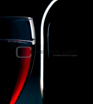 Wineglass detail - black background