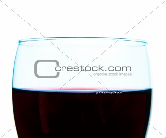 Red Wine Glass - high contrast