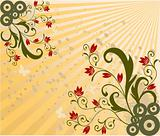 Abstraact floral background - vector