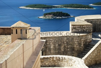 Adriatic view from fort