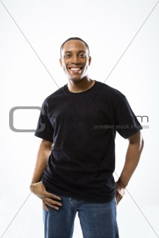 Portrait of young African-American man.