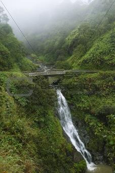 Waterfall on the Road to Hana, Maui, Hawaii, USA.