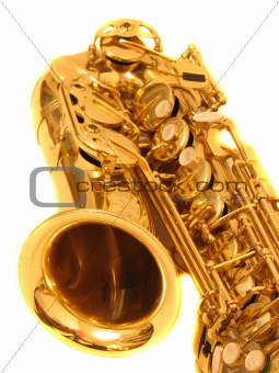 sax over white
