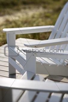 Adirondack chairs.