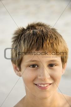 Portrait of smiling boy.
