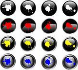 16 Splatted Black Web Buttons