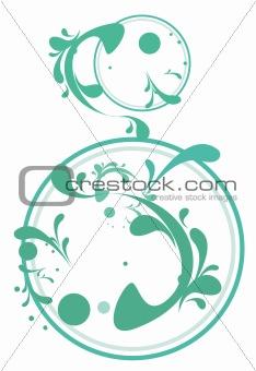 green plant pattern