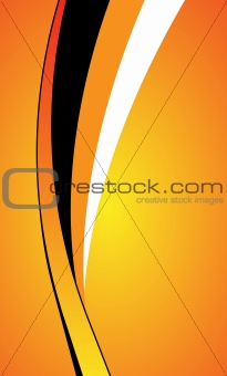 abstract orange curve background
