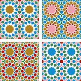 4 Islamic Star Patterns Pink, Blue, Brown, White, Red