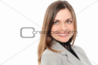 Positive   businesswoman  smiling