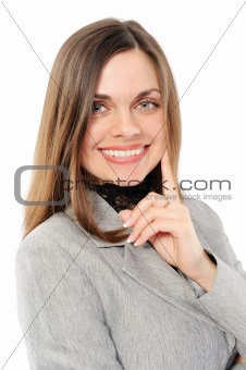 Positive   businesswoman  smiling