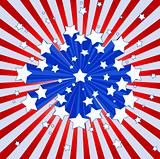 American starburst background