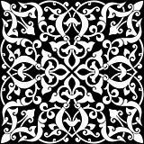 Arabesque Tile Black and White