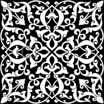 Arabesque Tile Black and White
