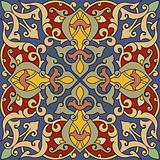 Arabesque Tile Red Yellow Blue