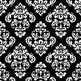 Damask Pattern Black and White