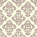 Damask Pattern Cream