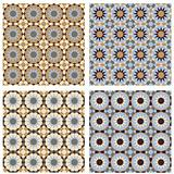 Islamic Seamless Pattern Brown Blue