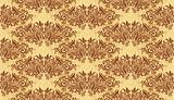 Vintage Wallpaper Pattern Gold