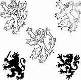 Heraldry Lions