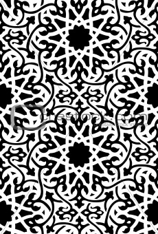 Islamic Pattern Black and White