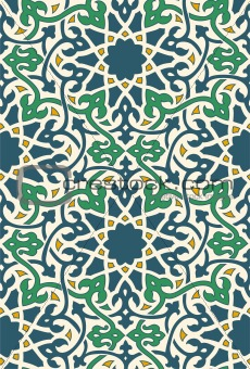 Islamic Pattern Blue Green