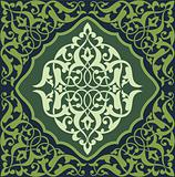 Arabesque Tile Green