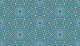 Ornate Seamless Pattern Blue