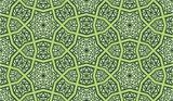 Ornate Seamless Pattern Green