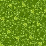 green flower seamless background