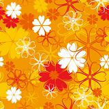 orange seamless flower pattern