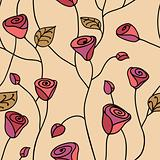 Rose seamless pattern pink