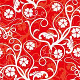 red seamless flower background