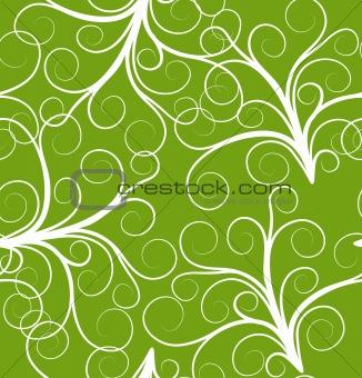 green seamless plant pattern