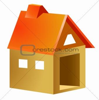 cartoon wood house