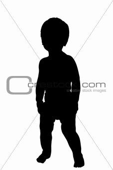Toddler Silhouette Illustration