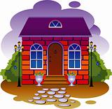 Cottage. Vector illustration