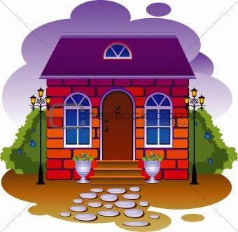 Cottage. Vector illustration