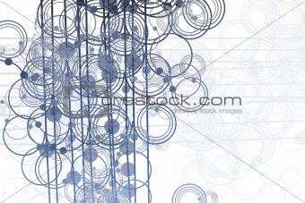 Flowing Lines and Circles Abstract
