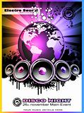 Colorul Music Event Background for Discotheque Flyers